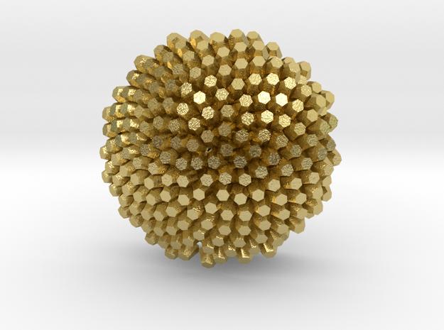 Sunflower Earrings 2 in Natural Brass