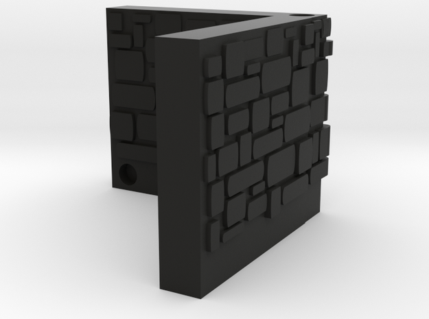 ET Stone Corner in Black Natural Versatile Plastic