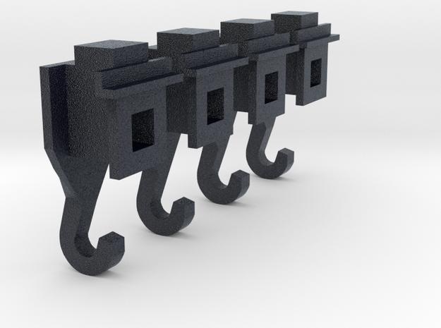Koppelingsadapter spoor2 in Black Professional Plastic