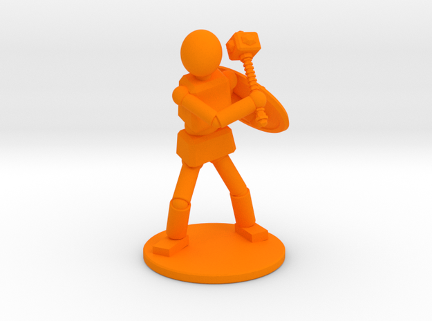 Prototype: Male Mace in Orange Processed Versatile Plastic