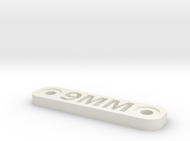 Caliber Marker - MLOK - 9mm in White Natural Versatile Plastic