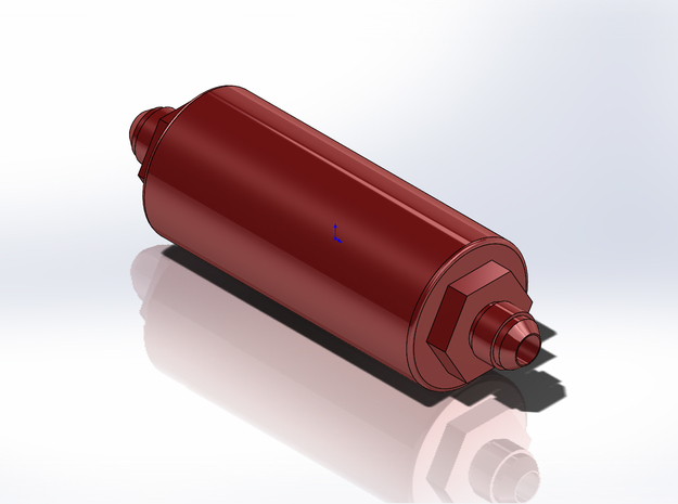 1/12 Scale Aeromotive Fuel Filter in Smoothest Fine Detail Plastic