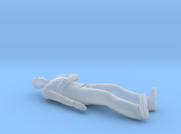 Man Laying Arm on Chest in Smoothest Fine Detail Plastic: 1:64 - S