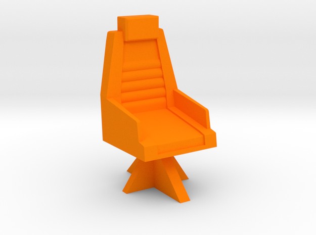 Chair for the Autobot base in Orange Processed Versatile Plastic