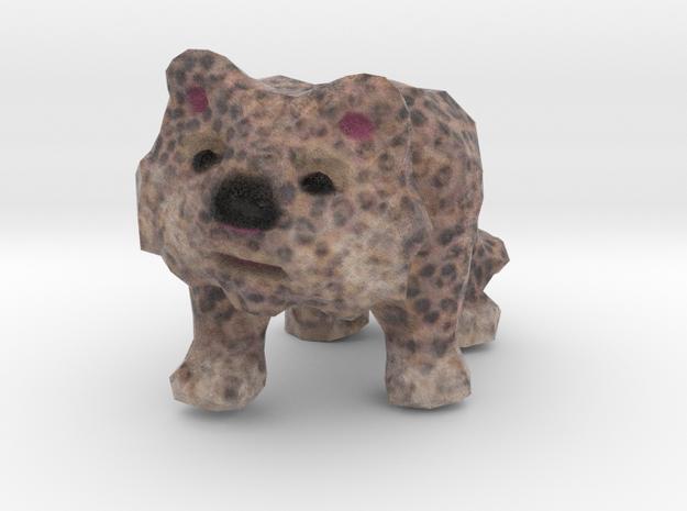 Snowy Leopard Figurine in Natural Full Color Sandstone