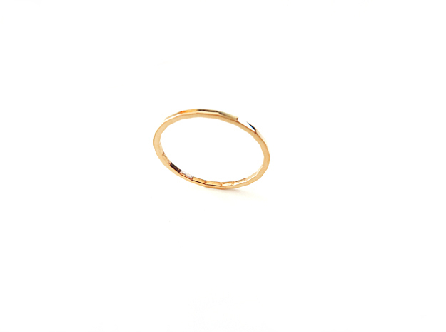 Simplicity Midi Ring in 14k Gold Plated Brass: Small