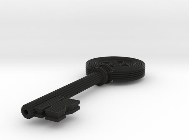 Coraline button Key - featured in Black Natural Versatile Plastic