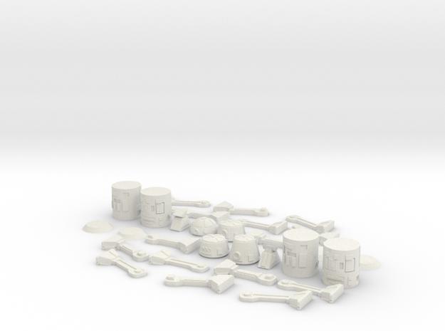ASTRO BODY BUILD SET in White Natural Versatile Plastic