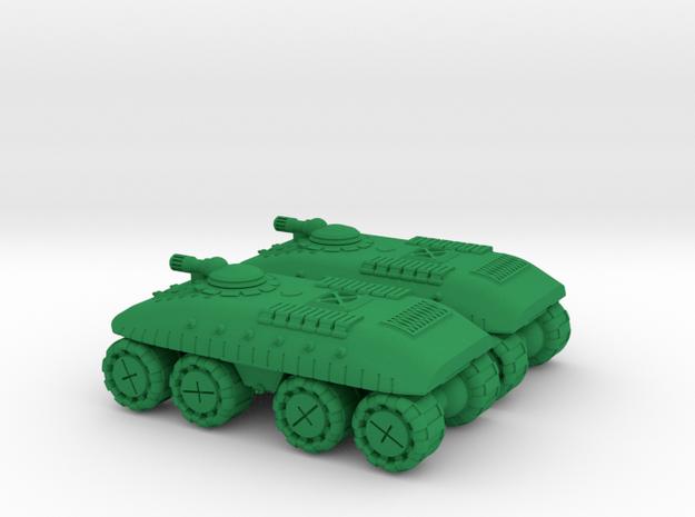 Dragoon Super Heavy Wheeled Armor - 3mm in Green Processed Versatile Plastic