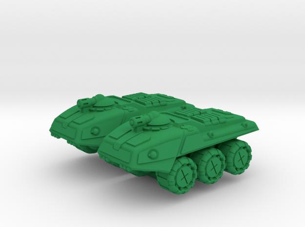 Remington Heavy Wheeled Armor - 3mm in Green Processed Versatile Plastic
