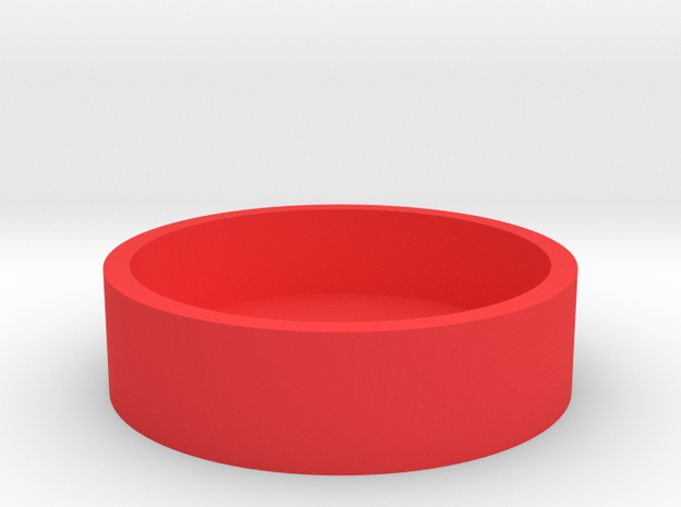 Okito Box - Australia 50 Cent (Round) in Red Processed Versatile Plastic