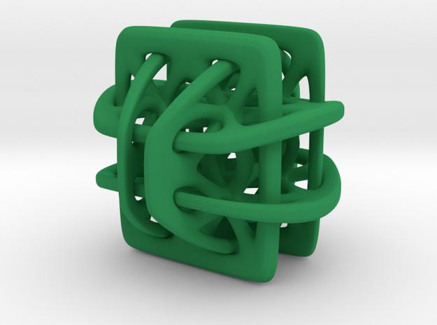 Borromean link nexus modified in Green Processed Versatile Plastic