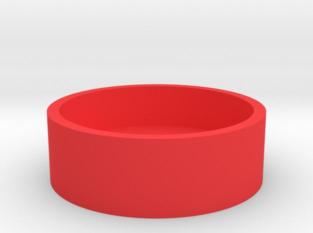 Boston Box - Australia 50 Cent (Round) in Red Processed Versatile Plastic