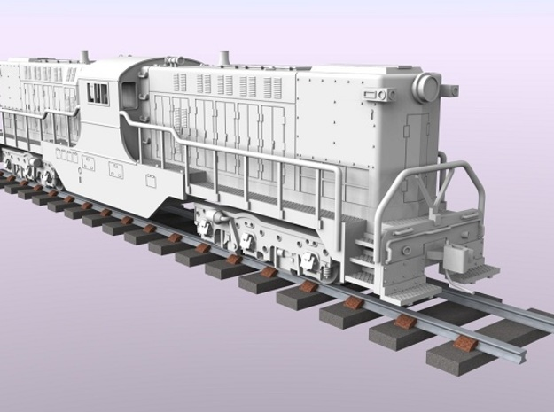 Baldwin DT6-6-2000 Center Cab N Scale 1:160 in Smooth Fine Detail Plastic