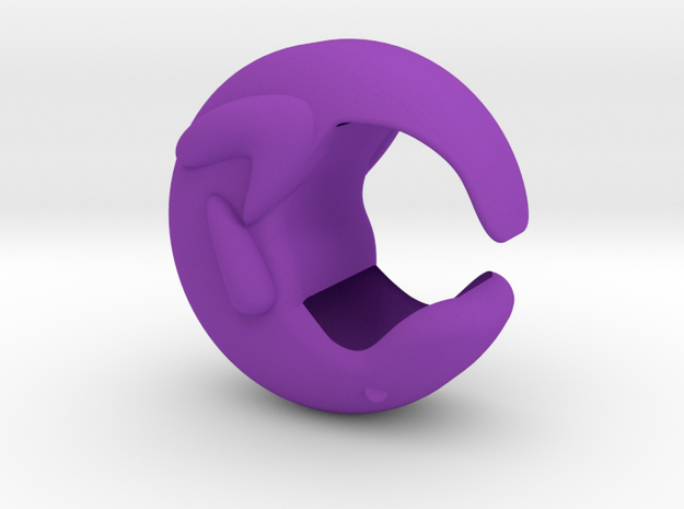 Otter Hollow  in Purple Processed Versatile Plastic
