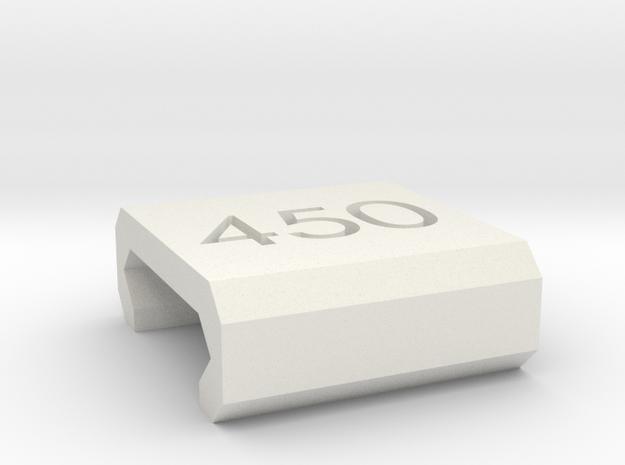Caliber Marker - Picatinny - 450 Bushmaster in White Natural Versatile Plastic