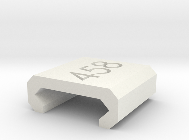 Caliber Marker - Picatinny - 458 SOCOM in White Natural Versatile Plastic