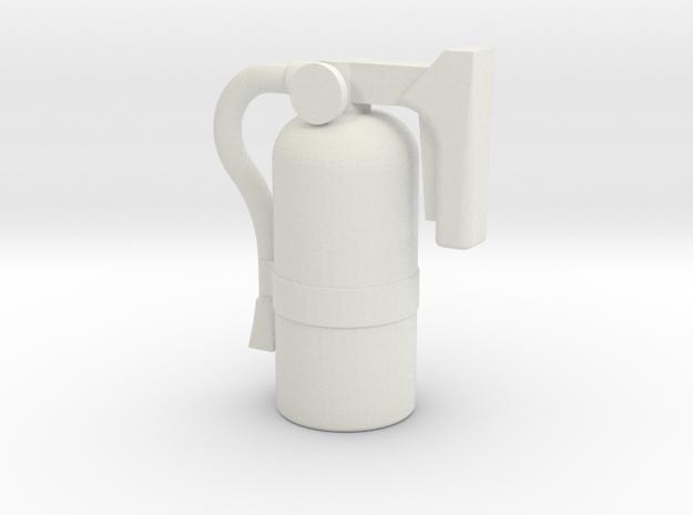 JaBird RC 1:10 Scale Fire Extinguisher in White Natural Versatile Plastic