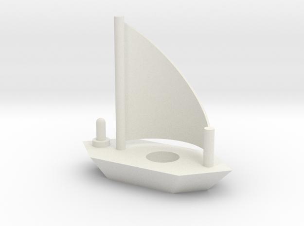 Sailboat lamp holder in White Natural Versatile Plastic
