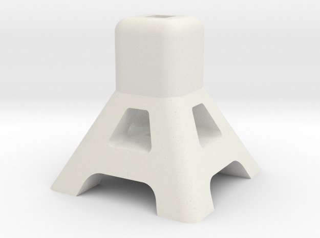 Axel Jack Stand in White Natural Versatile Plastic