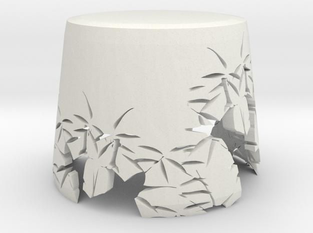 Bamboo Lampshade in White Natural Versatile Plastic