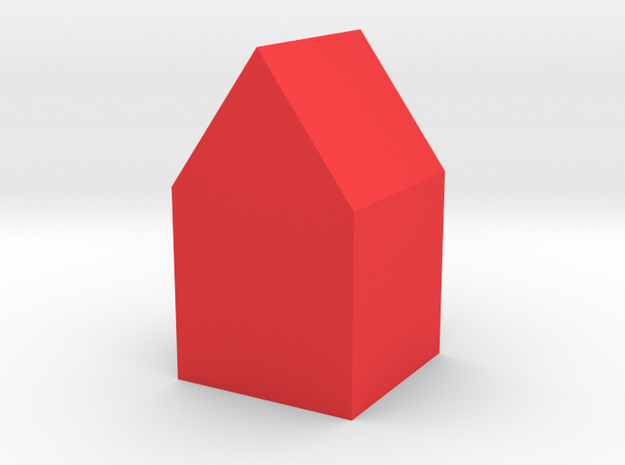 house in Red Processed Versatile Plastic