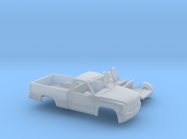 1/87 1999-02 Chevy Silverado 2500 RegCabRegBed Kit in Smooth Fine Detail Plastic