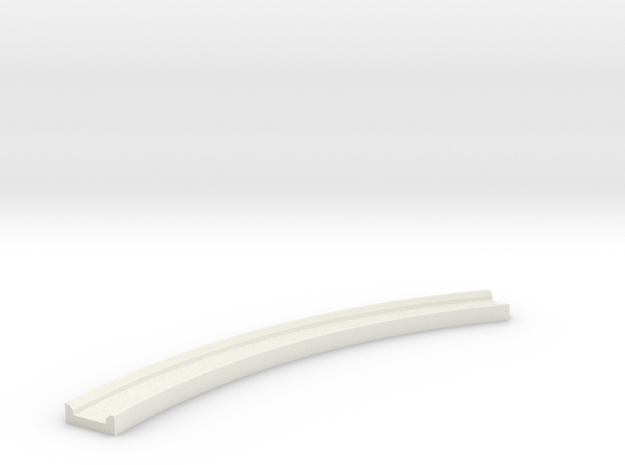 Motorway 2 Curve 1:1000 scale in White Natural Versatile Plastic