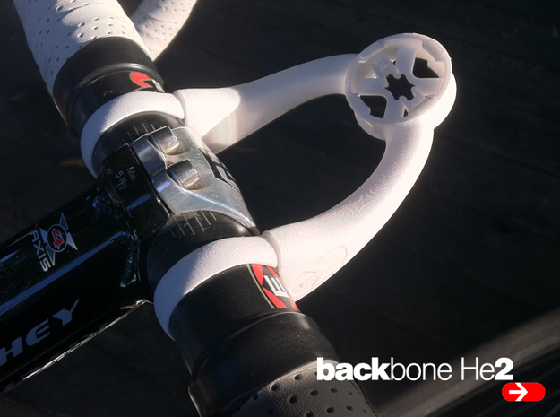 BackBone He2: No additional parts required! in Black PA12