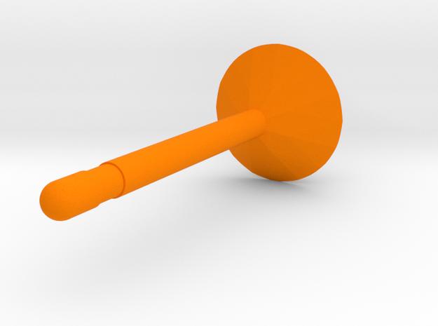 Diamond earring in Orange Processed Versatile Plastic