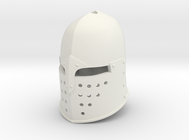 Sugar Loaf Helm (For Crest) in White Natural Versatile Plastic: Small