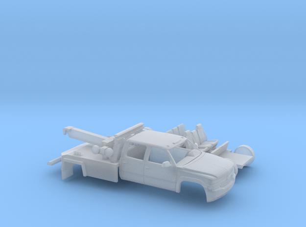 1/87 1999-02 Chevy Silverado CrewCab Wrecker Kit in Smooth Fine Detail Plastic