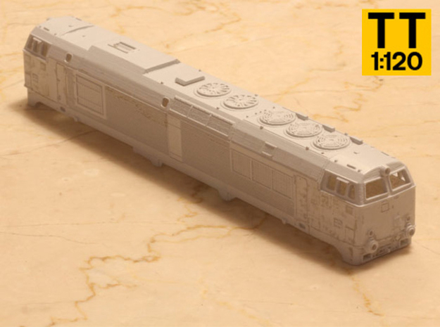 DSB MZ IV in 1:120 TT scale. in Smoothest Fine Detail Plastic