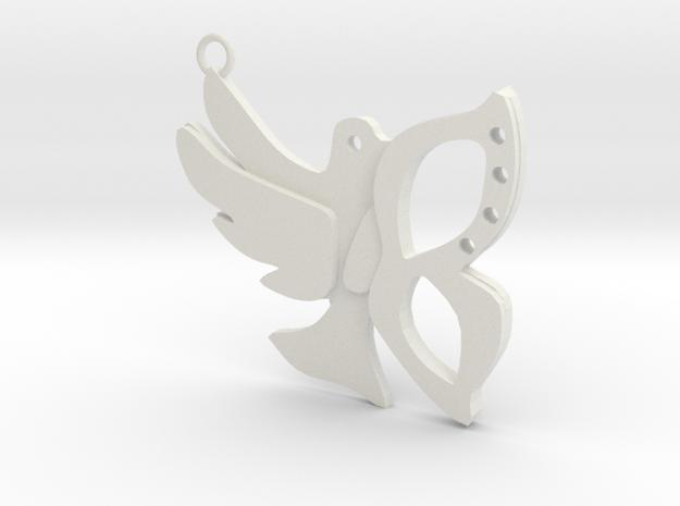 BIRD in White Natural Versatile Plastic