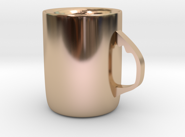 Mug in 14k Rose Gold Plated Brass