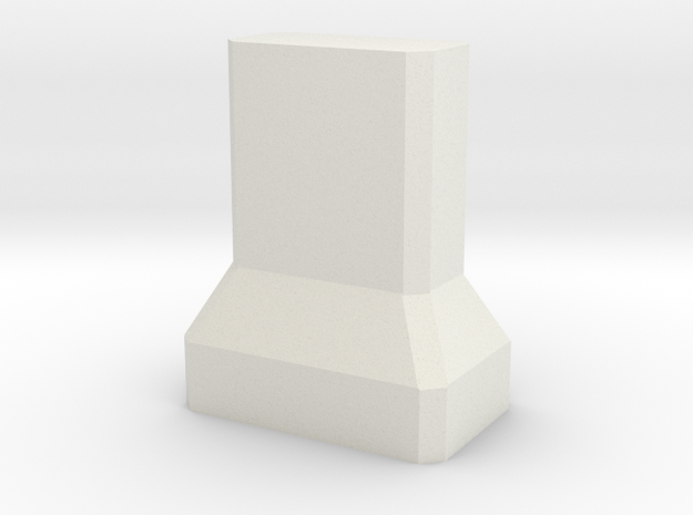Motorway 4 Pillar 1:1000 scale in White Natural Versatile Plastic