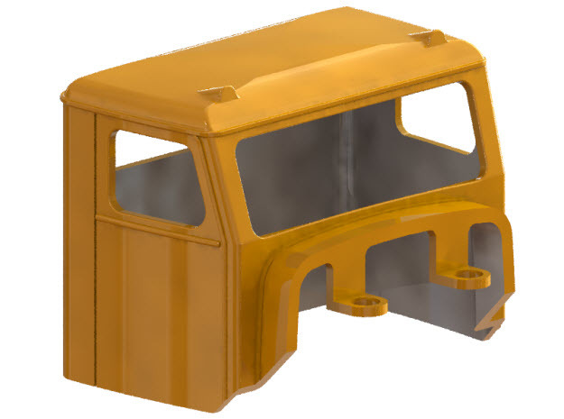 Truck Cab, Be-Ge 1200, fits Tekno Scania in Smooth Fine Detail Plastic