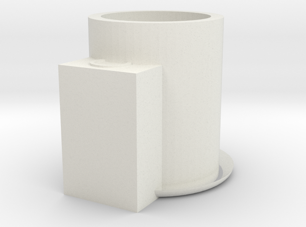 candle holder in White Natural Versatile Plastic