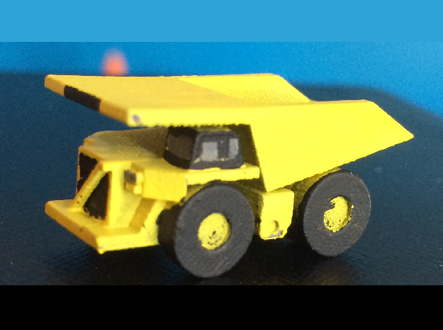 CAT 793F Dump Truck  in Smoothest Fine Detail Plastic: 1:500