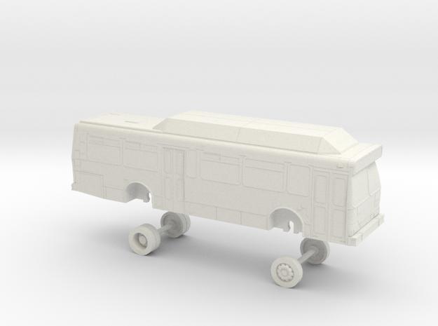 HO Scale Bus Orion V GET 9900s in White Natural Versatile Plastic