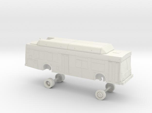 HO Scale Bus New Flyer C35LF Santa Cruz 2200s in White Natural Versatile Plastic