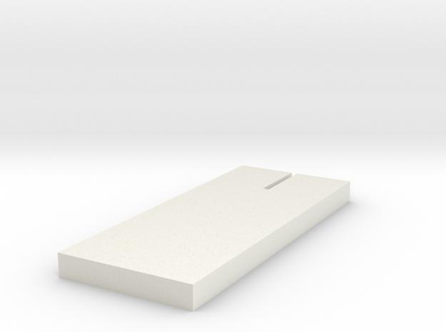 Base 1:32 slot car in White Natural Versatile Plastic