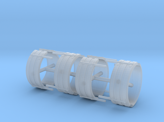 1/64th Single Axle Ribbed Fender set of 8