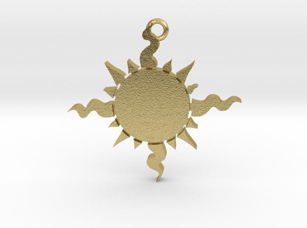 Light (Sun) Pendant in Natural Brass