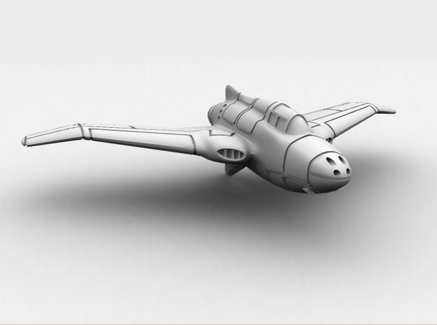 Northrop XP-56 Black Bullet 1/285 Frost Ultra 3d printed CG image of the actual model