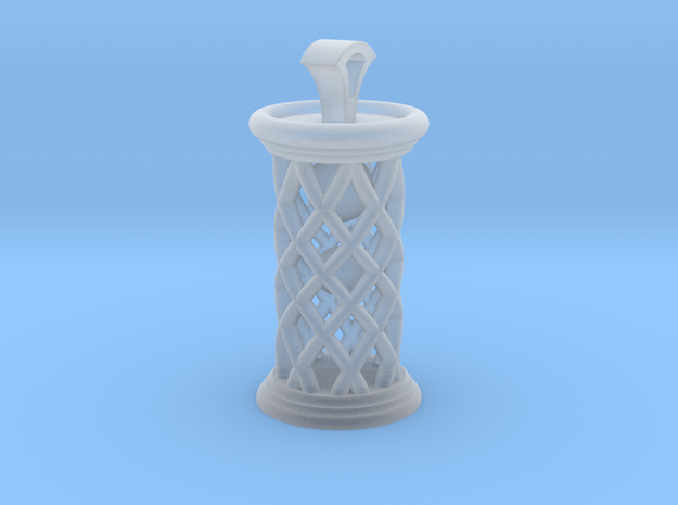 Time flows pendant - Inspired by an hourglass in Smooth Fine Detail Plastic