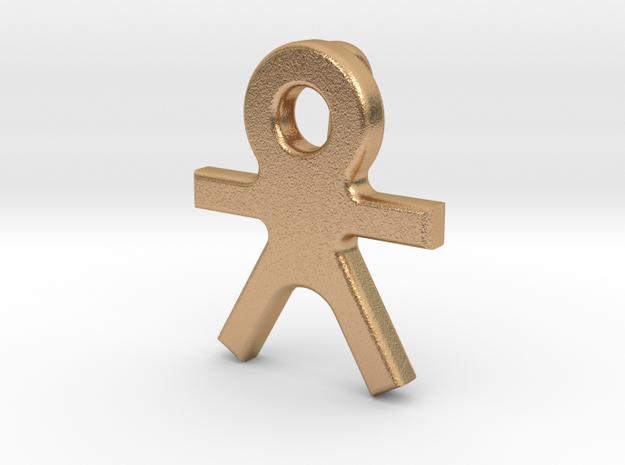 Human Pendant (with loop) in Natural Bronze