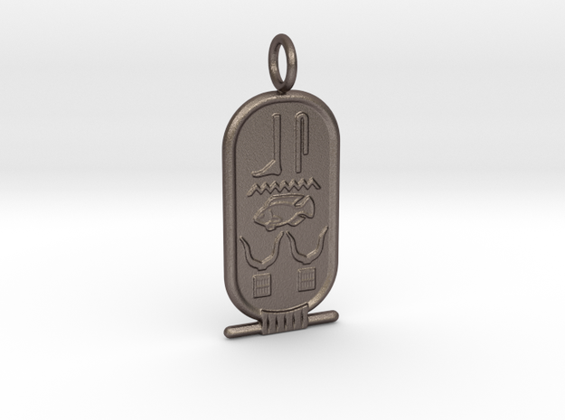 Custom Cartouche SAMPLE in Polished Bronzed-Silver Steel