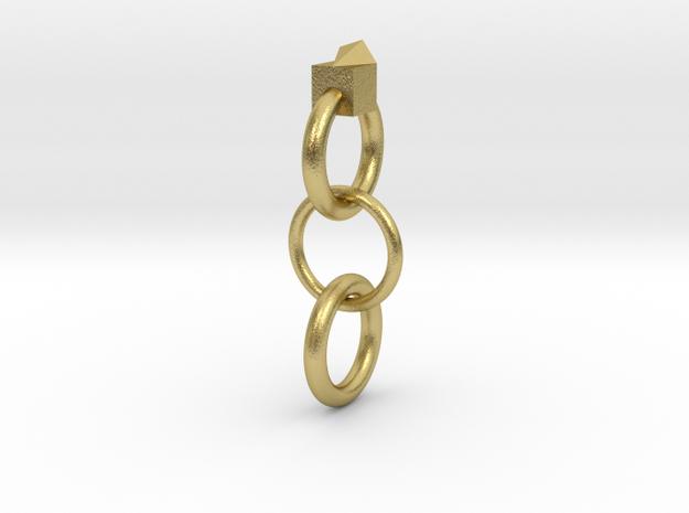 耳環.stl in Natural Brass