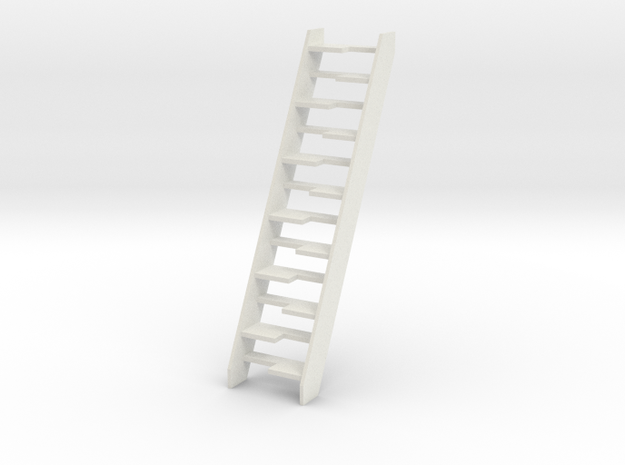 Dollhouse Lapeyre Stair in White Natural Versatile Plastic